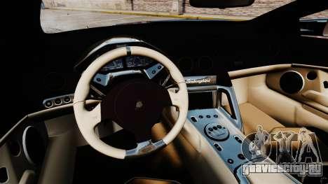 Lamborghini Reventon Roadster 2009 для GTA 4 вид сзади