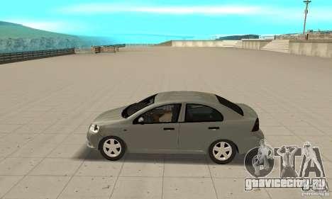Chevrolet Aveo для GTA San Andreas вид слева