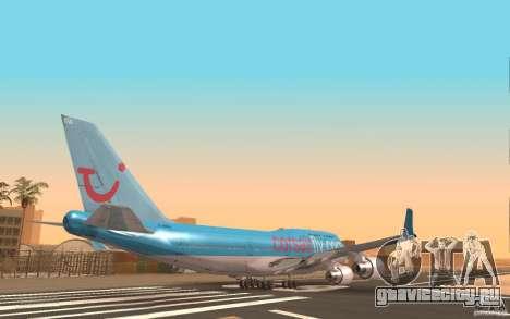 Boeing-747 Corsair Fly для GTA San Andreas вид сзади слева