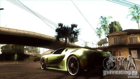 Bugatti Veyron Life Speed для GTA San Andreas вид сзади слева