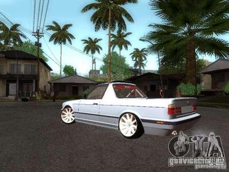 BMW E34 Pickup для GTA San Andreas вид сзади слева