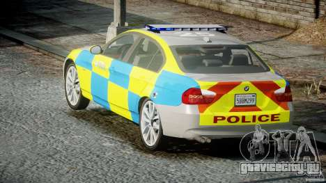 BMW 350i Indonesian Police Car [ELS] для GTA 4 вид сбоку