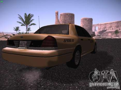 Ford Crown Victoria Taxi 2003 для GTA San Andreas вид сзади слева