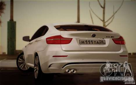 BMW X6M E71 для GTA San Andreas вид слева
