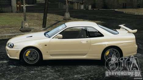 Nissan Skyline GT-R R34 2002 v1.0 для GTA 4 вид слева