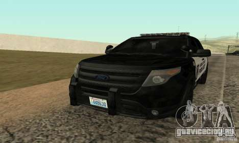 Ford Police Interceptor Utility 2011 Seattle (WA) Police Department для GTA San Andreas