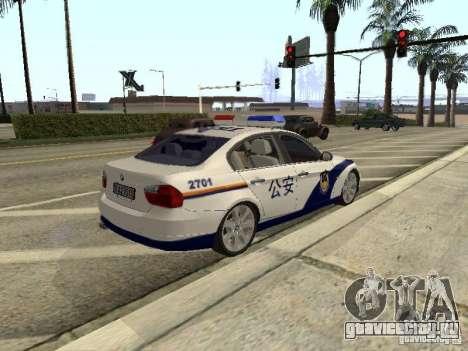 BMW 3 Series China Police для GTA San Andreas вид сзади
