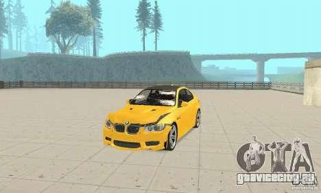 BMW M3 2008 для GTA San Andreas вид сверху