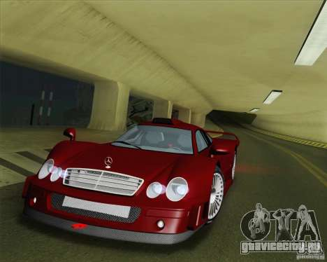 Mercedes-Benz CLK GTR Race Road Version Stock для GTA San Andreas вид сверху