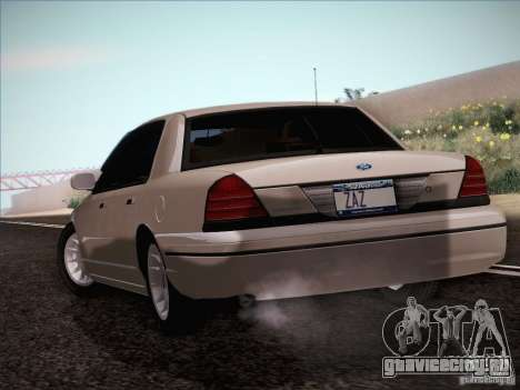 Ford Crown Victoria Interceptor для GTA San Andreas вид справа