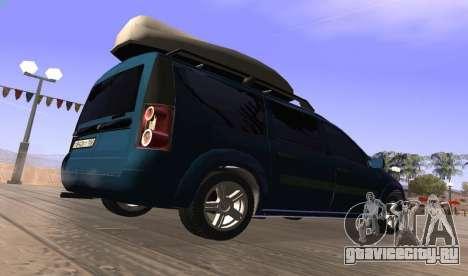 Lada Largus для GTA San Andreas вид сзади слева