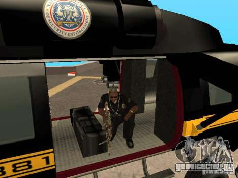 Enterable Annihilator из GTA 4 для GTA San Andreas вид справа