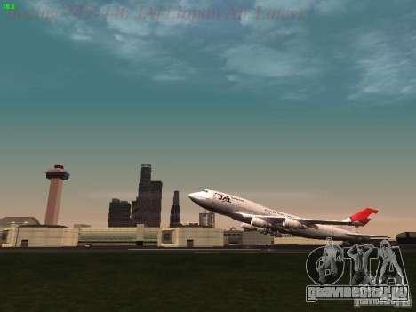 Boeing 747-446 Japan-Airlines для GTA San Andreas вид сбоку