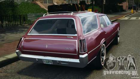 Oldsmobile Vista Cruiser 1972 v1.0 для GTA 4 вид сзади слева
