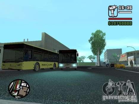 ЛАЗ ИнтерЛАЗ 12 для GTA San Andreas вид сзади