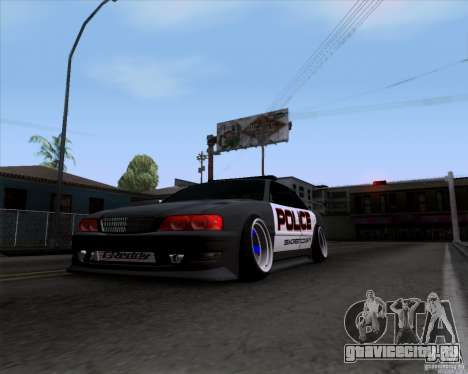 Toyota Chaser jzx100 Drift Police для GTA San Andreas