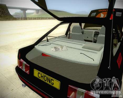 Ford Sierra RS500 Race Edition для GTA San Andreas вид изнутри