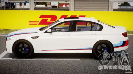 BMW M5 F10 2012 M Stripes для GTA 4 вид сбоку