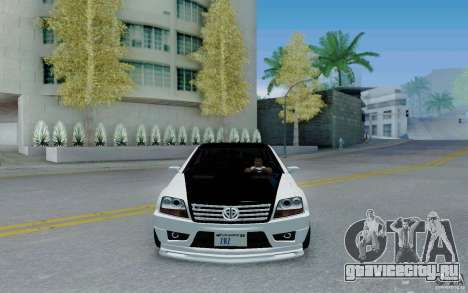 Benefactor Serrano Modder для GTA San Andreas вид сзади