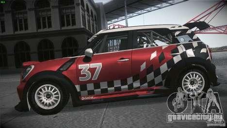 Mini Countryman WRC для GTA San Andreas вид слева