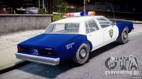 Chevrolet Impala Police 1983 для GTA 4 вид сверху