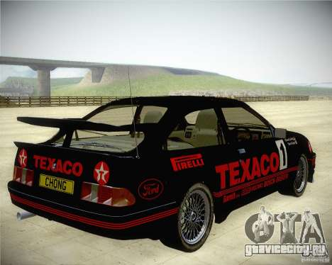 Ford Sierra RS500 Race Edition для GTA San Andreas вид сзади слева