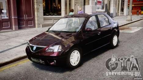 Dacia Logan 2007 Prestige 1.6 для GTA 4 вид слева