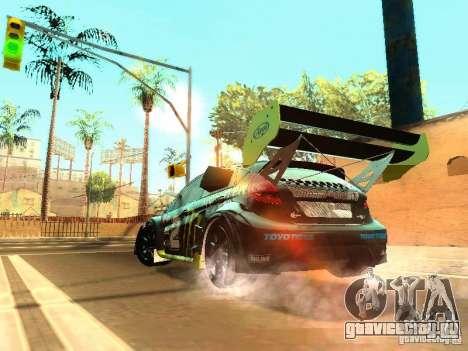 Ford Fiesta Rally Time для GTA San Andreas вид сзади