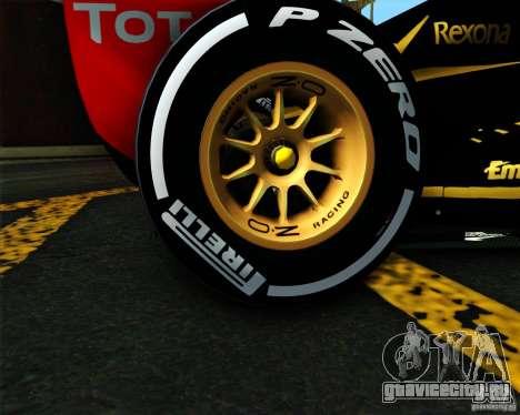 Lotus E20 F1 2012 для GTA San Andreas вид сзади слева