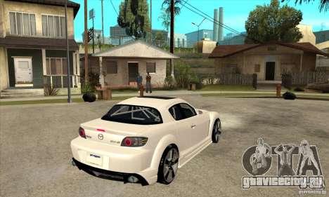 Mazda RX-8 v2 для GTA San Andreas вид справа