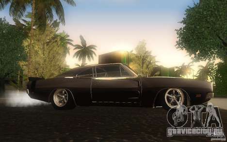 Dodge Charger RT 69 для GTA San Andreas вид сзади