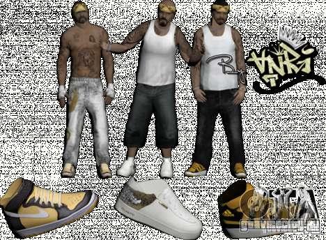 Skins Pack By AnRi для GTA San Andreas второй скриншот