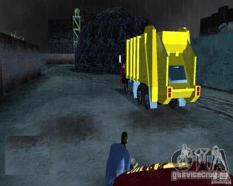 КамАЗ Мусоровоз для GTA Vice City вид сзади слева