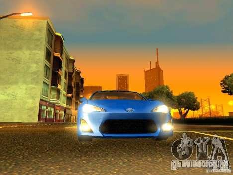 Toyota GT86 Limited для GTA San Andreas вид изнутри