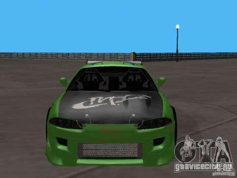 Mitsubishi Eclipse Tunable для GTA San Andreas вид сзади слева
