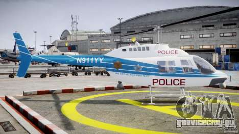 Bell 206 B - Chicago Police Helicopter для GTA 4 вид изнутри