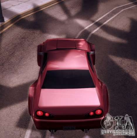 Elegy Wide Body для GTA San Andreas вид изнутри