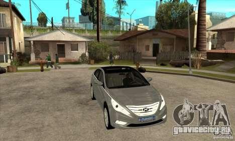 Hyundai Sonata 2011 для GTA San Andreas вид сзади