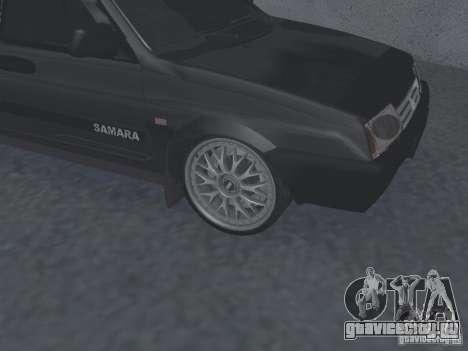 ВАЗ 2109 tunable для GTA San Andreas вид сзади слева