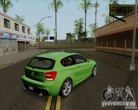 BMW M135i V1.0 2013 для GTA San Andreas вид сзади слева