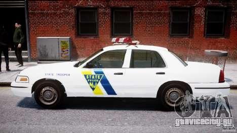 Ford Crown Victoria New Jersey State Police для GTA 4 вид сзади слева