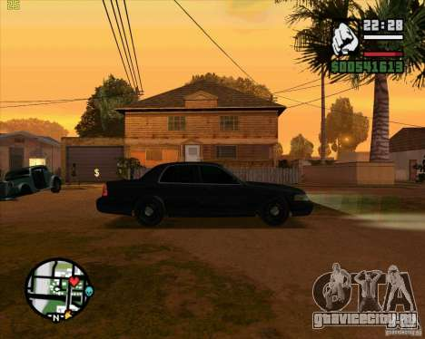 Ford Crown Victoria FBI для GTA San Andreas вид сзади слева