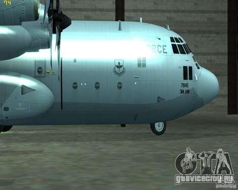 C-130 hercules для GTA San Andreas вид сзади слева