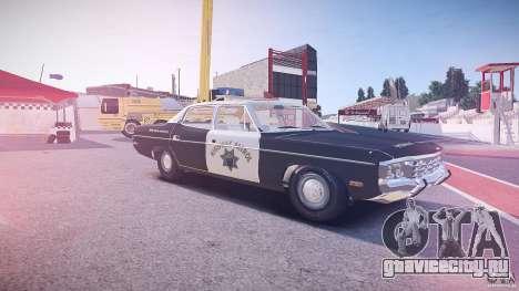 AMC Matador CHP [ELS] для GTA 4 салон