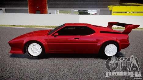 BMW M1 [Beta] для GTA 4 вид слева