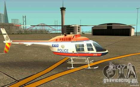 Bell 206 B Police texture2 для GTA San Andreas вид сзади слева