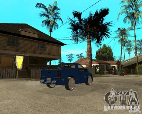 Dodge RAM SRT-10 для GTA San Andreas вид сзади слева