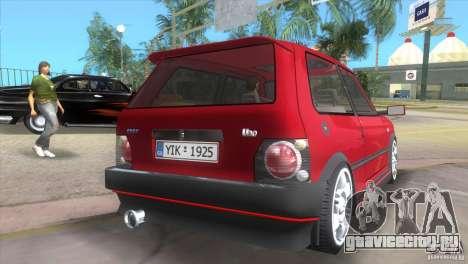Fiat Uno Turbo для GTA Vice City вид слева