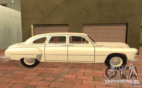 ГАЗ 12 ЗИМ для GTA San Andreas вид сзади слева