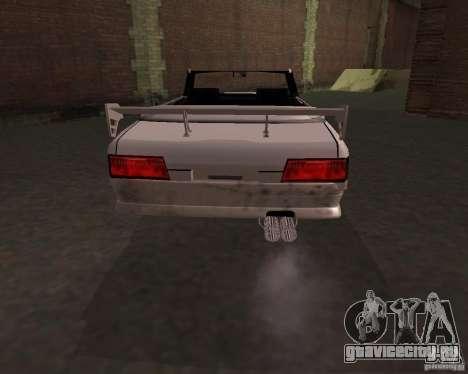 Такси Кабриолет для GTA San Andreas вид сзади слева